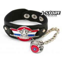 pulsera con anillo Capitán América