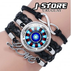 Pulsera Iron Man Tony Stark I love you 3000