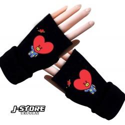 guantes sin dedos BTS BT21 TATA