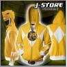 Campera hoodie Power Ranger Amarillo