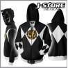 Campera Hoodie Power Ranger Negro