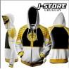 Campera Hoodie Power Ranger Blanco