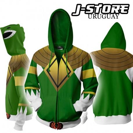 Campera Hoodie Power Ranger Verde