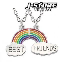 collar doble amistad arcoiris
