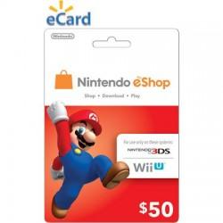 Tarjeta prepaga Nintendo EShop de U$S 50