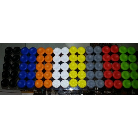 Par de gomitas de silicona para controles